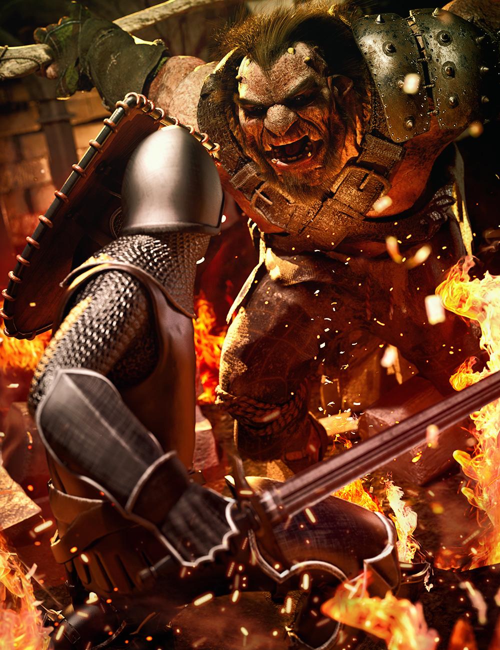 Jazz 8.1 Knight vs. the Giant Bundle by: , 3D Models by Daz 3D