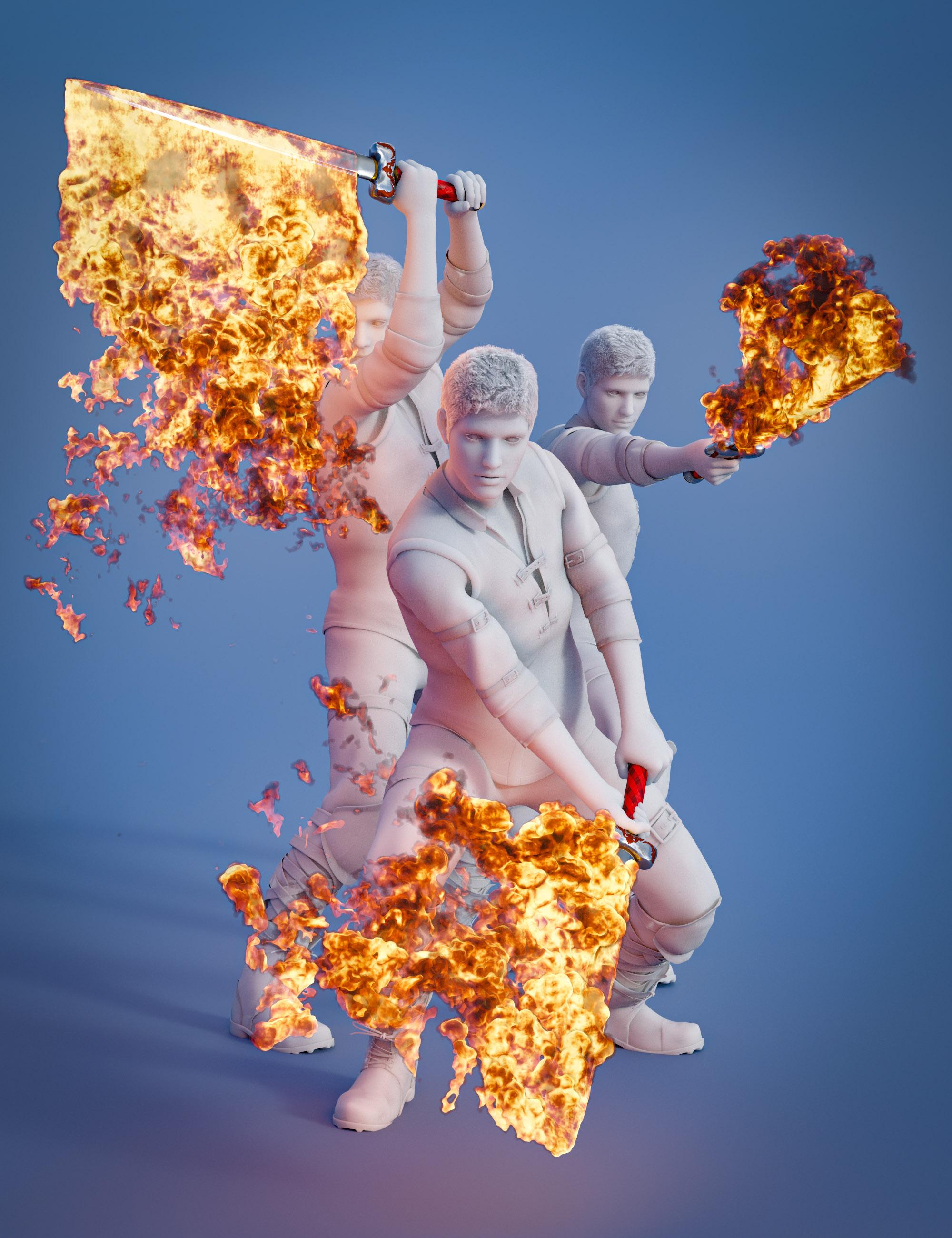 Pyromantix - Fire Swords by: DimensionTheory, 3D Models by Daz 3D