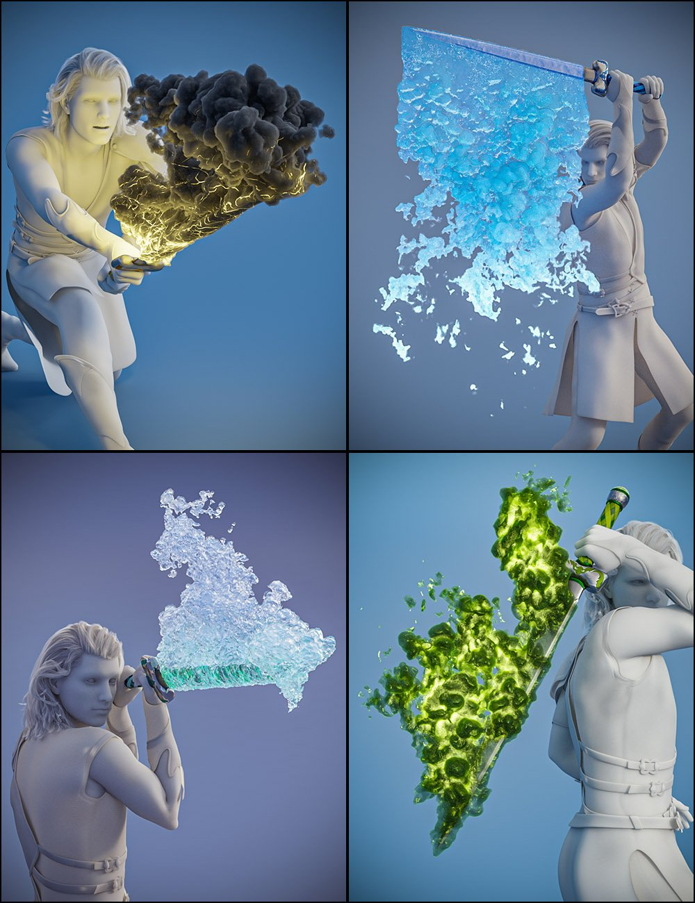 Pyromantix - Elemental Sword Materials by: DimensionTheory, 3D Models by Daz 3D