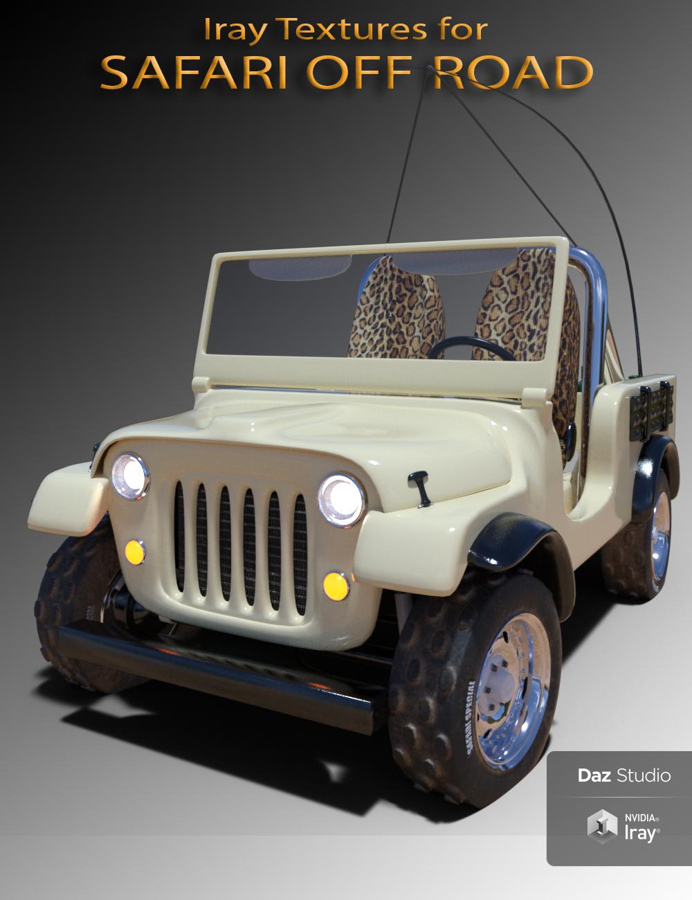 Safari Off Road Iray Add-On by: 3djoji, 3D Models by Daz 3D