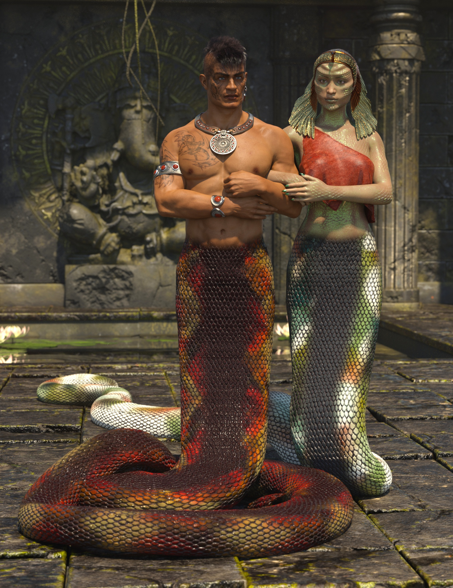 Lamia Mania - Textures for Lamia Tail and Clothes by: 3D-GHDesignSade, 3D Models by Daz 3D