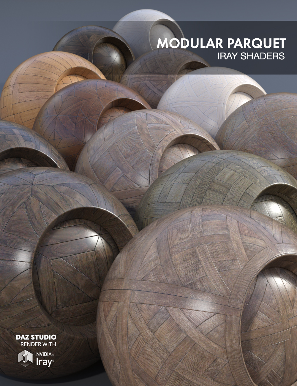Modular Parquet - Iray Shaders by: Dimidrol, 3D Models by Daz 3D