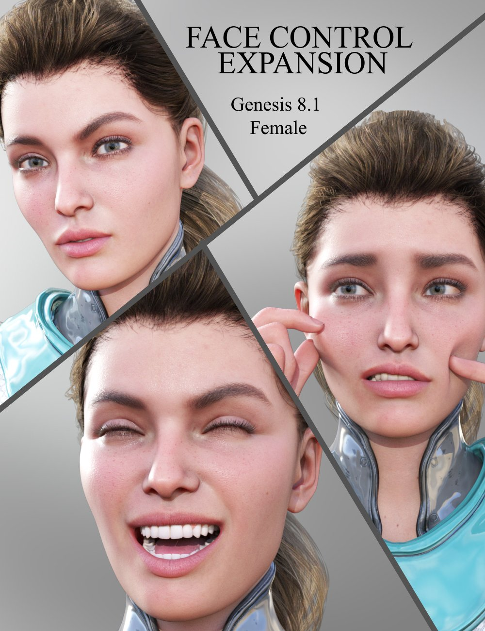 Face Control Expansion for Genesis 8.1 Female by: JWolf, 3D Models by Daz 3D