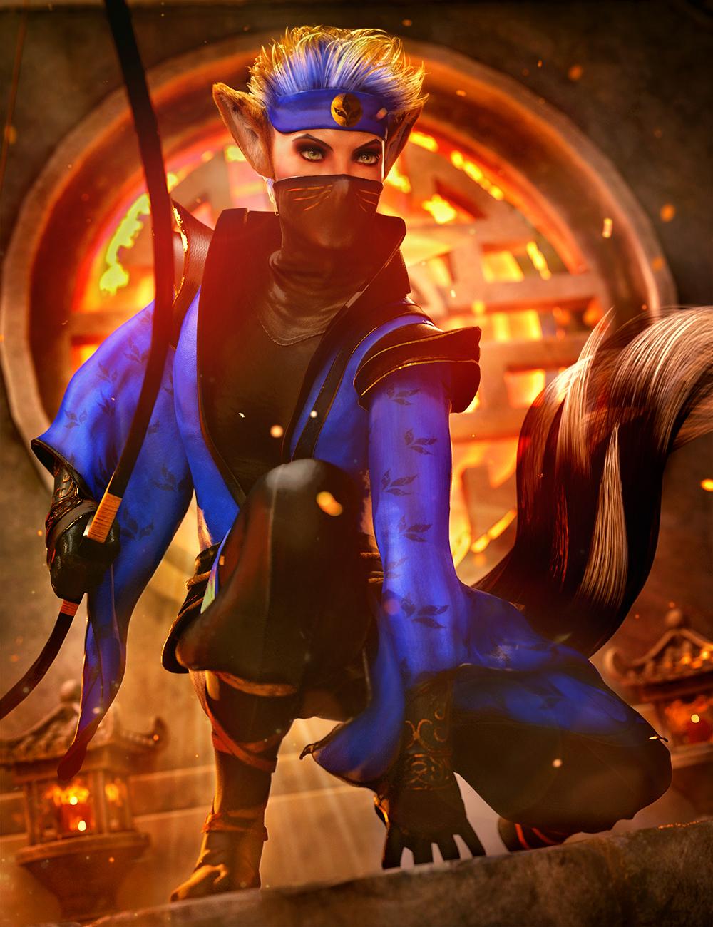 dForce Torikku Outfit for Genesis 8.1 Male by: Arki, 3D Models by Daz 3D