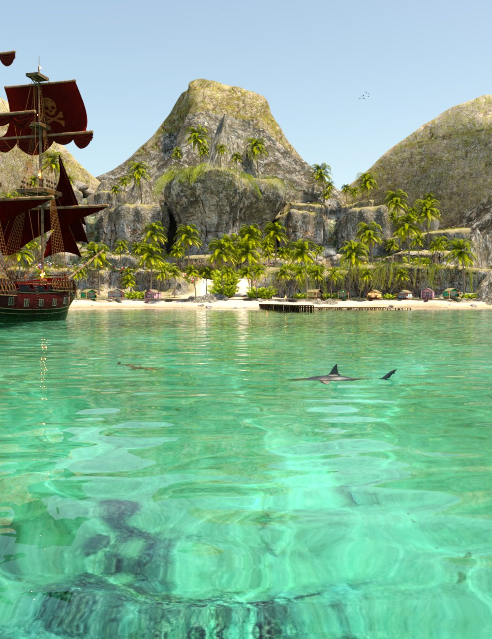 PW Caribbean Island by: PW Productions, 3D Models by Daz 3D