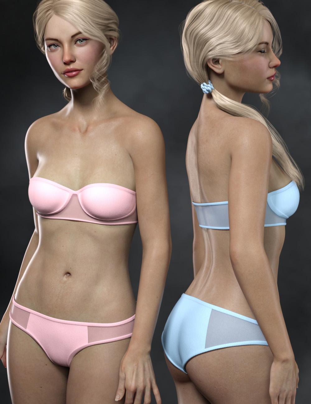 Ciel Bikini for Genesis 8 and 8.1 Females by: Cherubit, 3D Models by Daz 3D