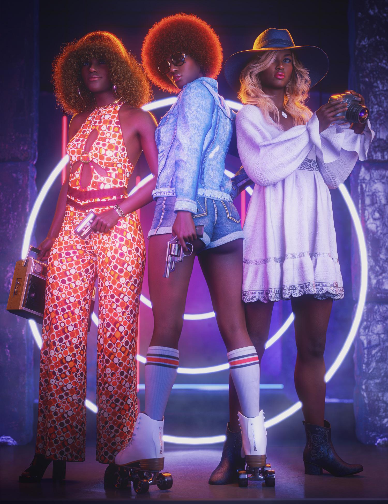 Jada 8.1 Undercover Roller Girl Bundle by: , 3D Models by Daz 3D