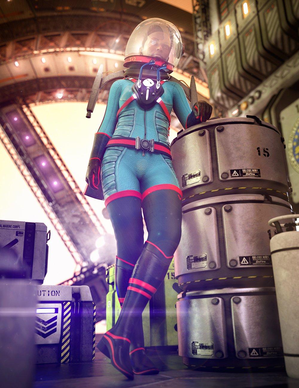 Stellar Spacesuit for Genesis 8.1 Females by: Barbara BrundonUmblefugly, 3D Models by Daz 3D