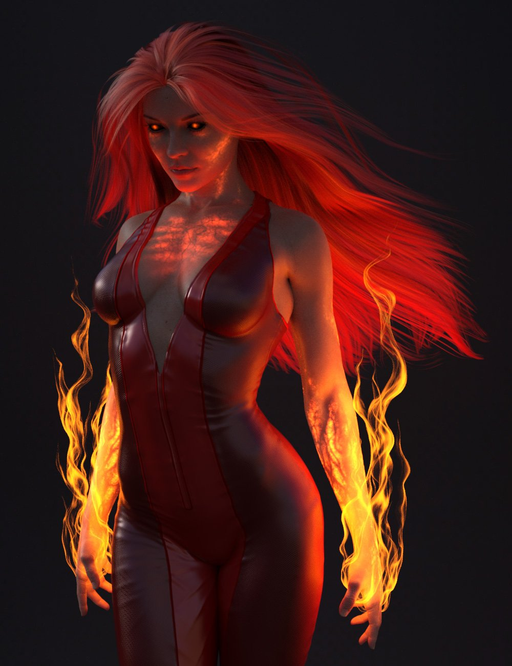 Superhero Body FX for Genesis 8 Females by: smay, 3D Models by Daz 3D