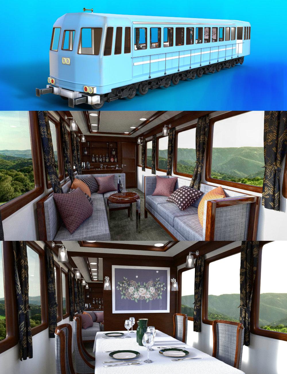 FG Luxury Passenger Train by: PAN StudiosFugazi1968ironman13, 3D Models by Daz 3D