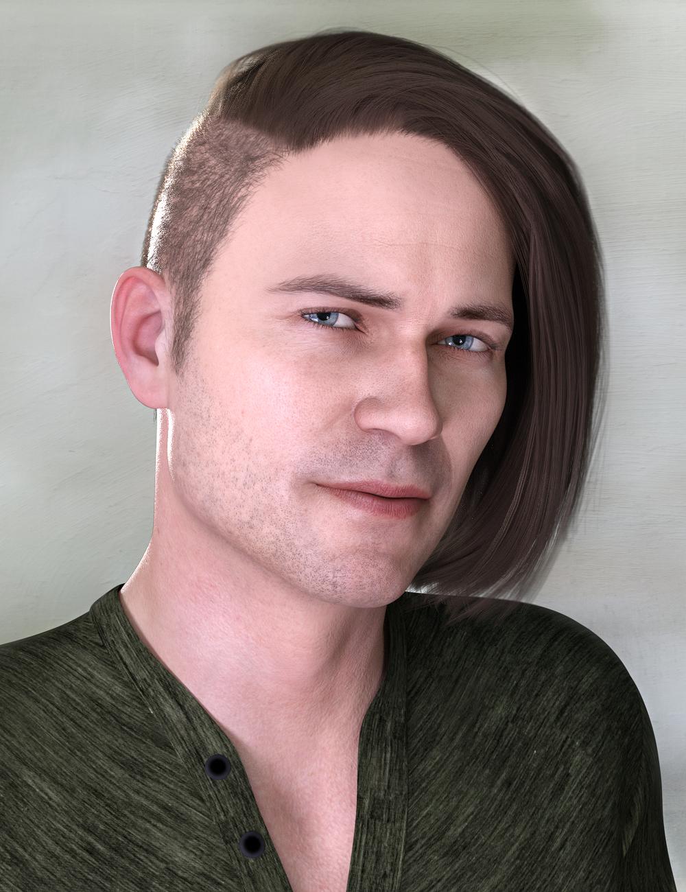 Derrik Hair for Genesis 8 Males by: Propschick, 3D Models by Daz 3D