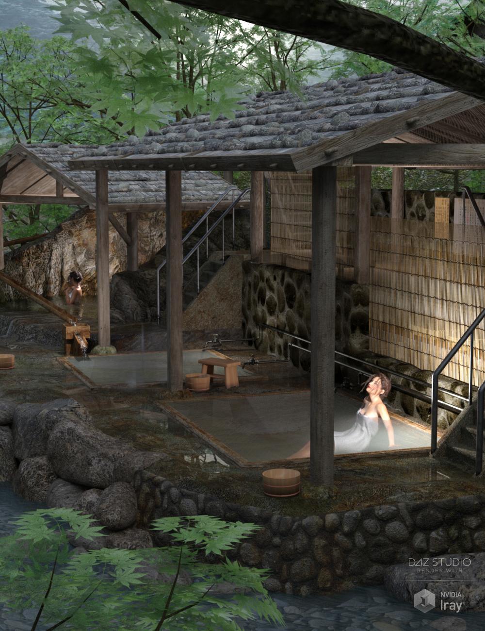 Japanese Onsen by: sugatak, 3D Models by Daz 3D