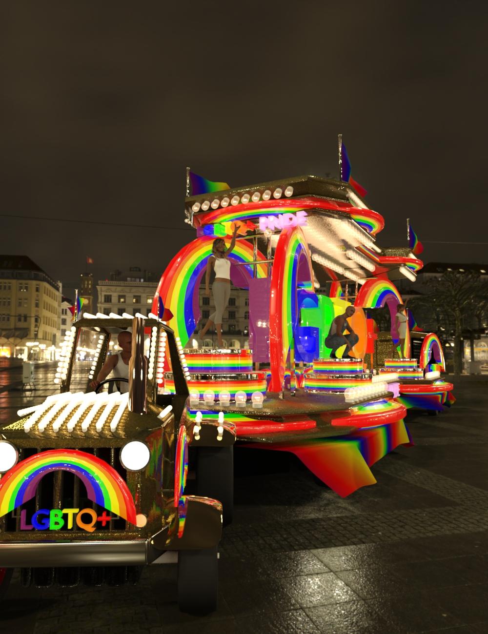 Pride Carnival Float by: Serum, 3D Models by Daz 3D