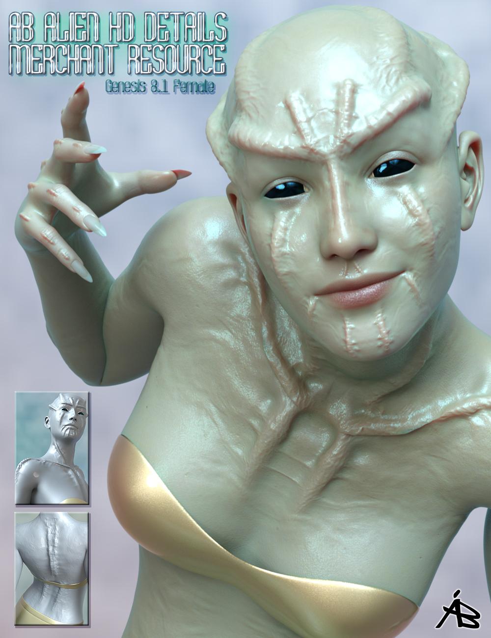 AB Alien HD Details for Genesis 8.1 Female Merchant Resource by: AuraBianca, 3D Models by Daz 3D
