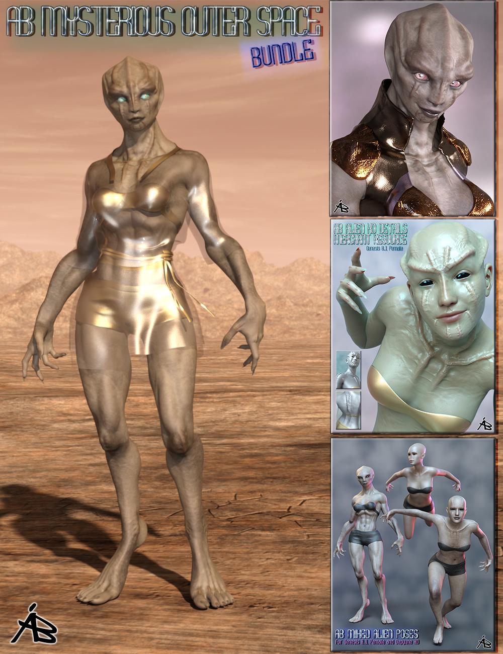 AB Mysterious Outer Space Bundle by: AuraBianca, 3D Models by Daz 3D