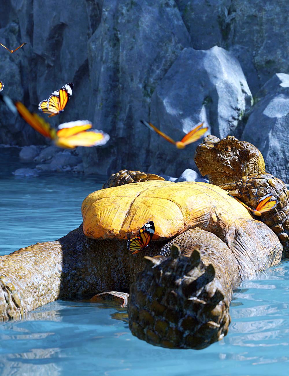 Storybook Turtle HD for Genesis 8.1 Males by: JoeQuick, 3D Models by Daz 3D