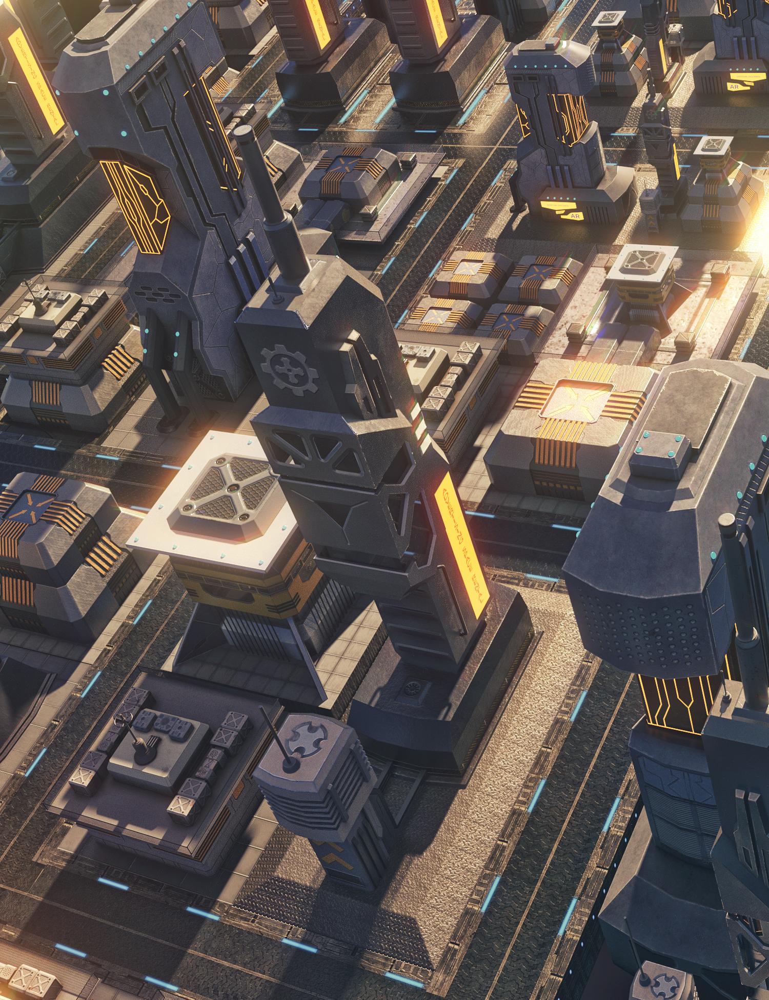 X-BIT Future Space Building by: X-BIT, 3D Models by Daz 3D