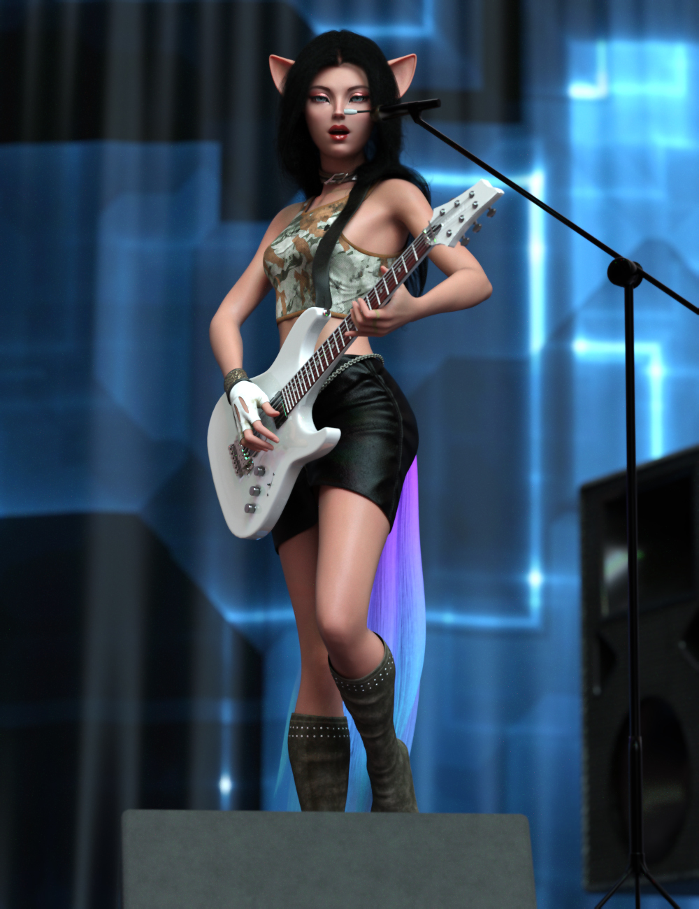 She´s a Star Hierarchical Poses for Kiko 8.1 by: Ensary, 3D Models by Daz 3D