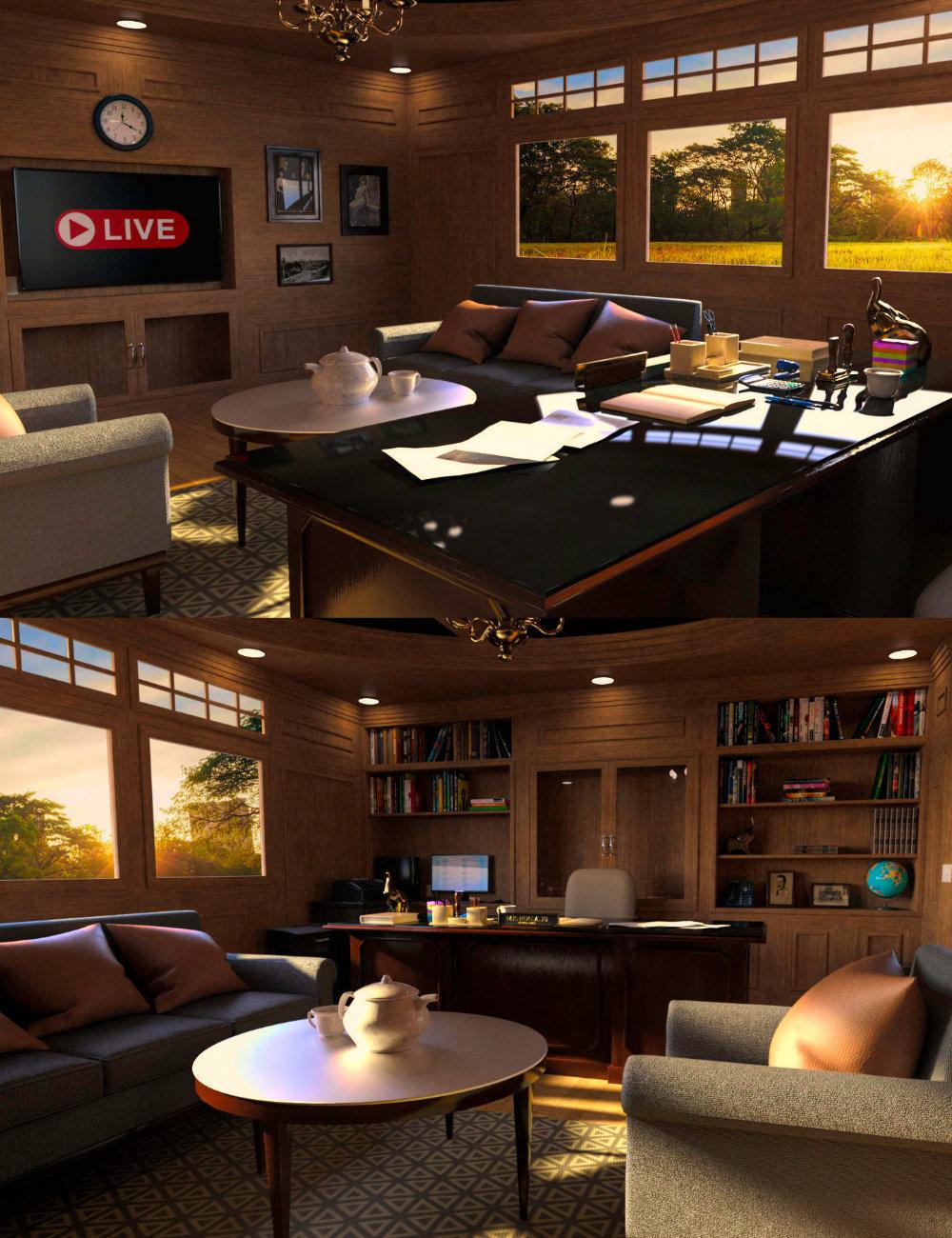 FG Modern Dean's Office by: PAN StudiosFugazi1968Ironman, 3D Models by Daz 3D