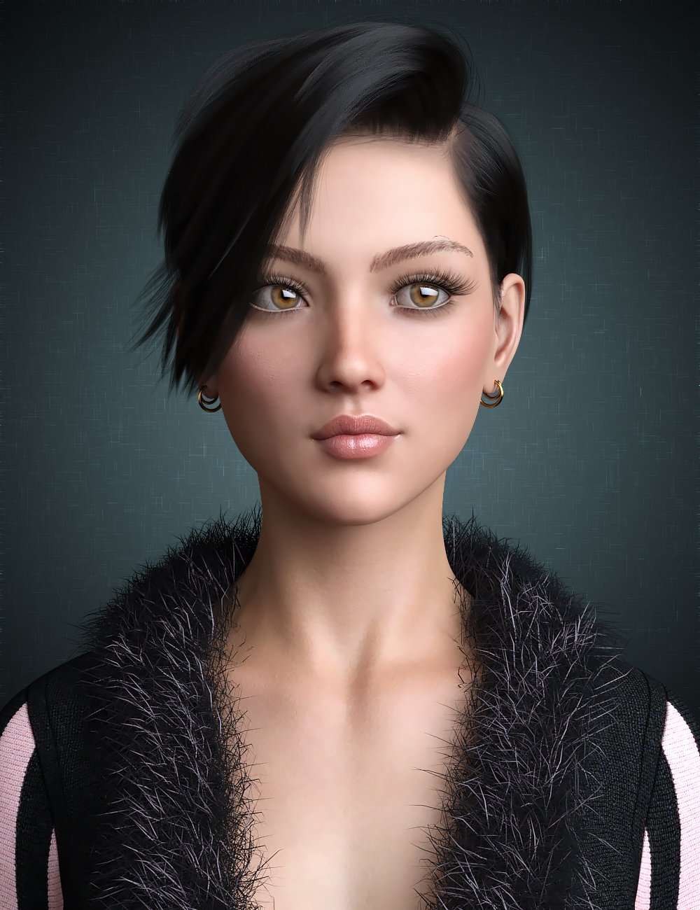 Janey Hair for Genesis 8 and 8.1 Female by: WindField, 3D Models by Daz 3D