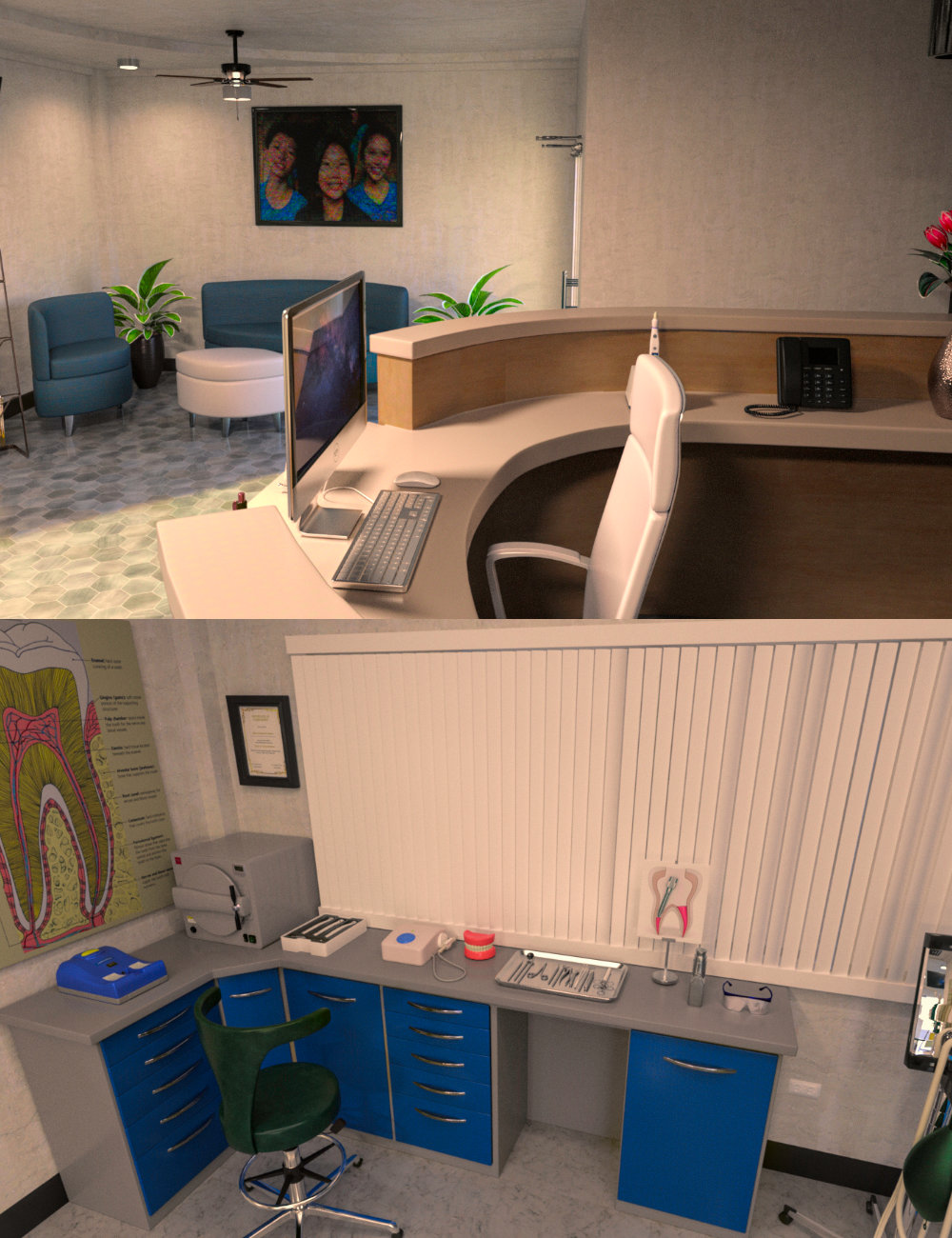 FG Dentist Office by: PAN StudiosFugazi1968Ironman, 3D Models by Daz 3D