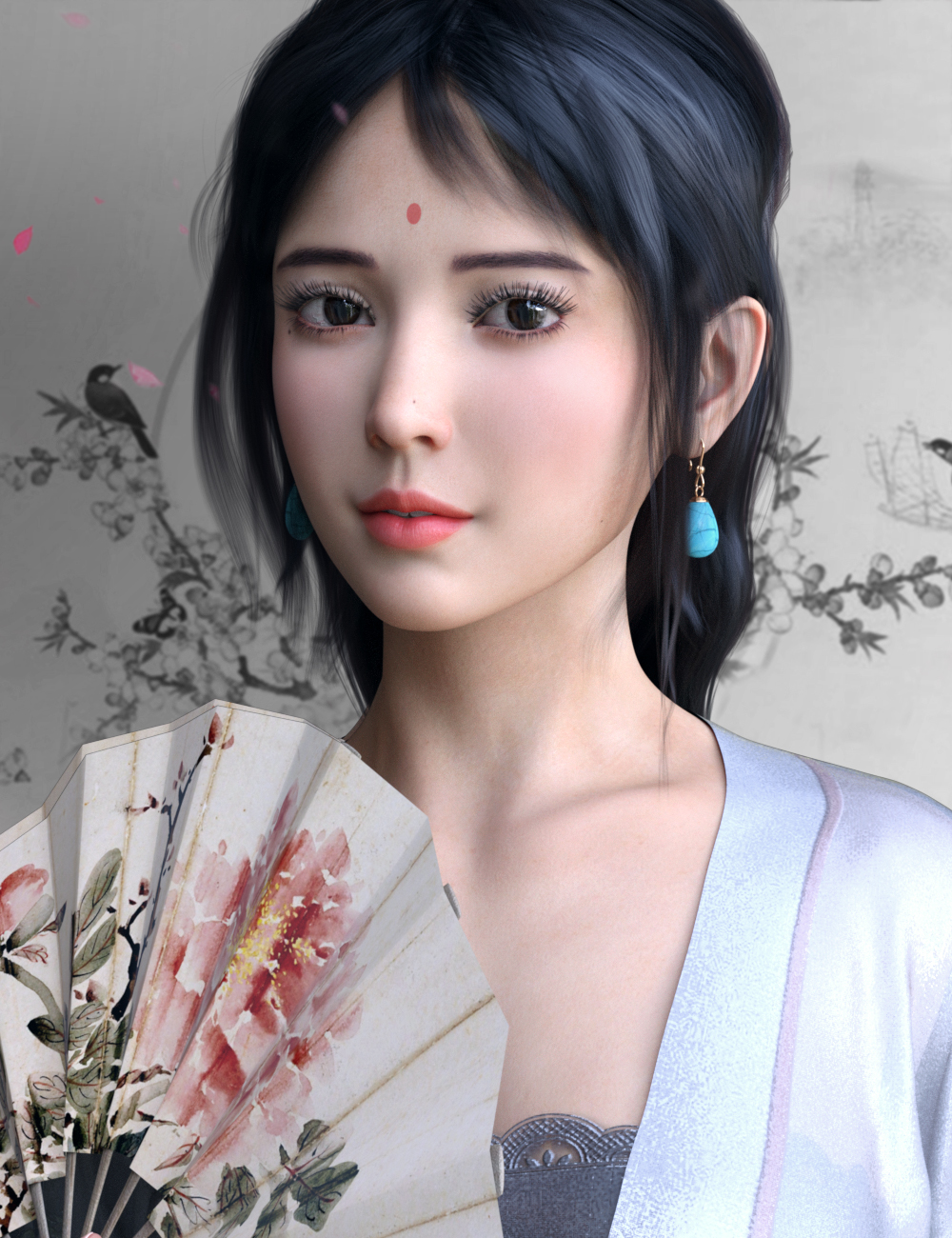 VO Xiao Mei for Genesis 8 and 8.1 Females by: VOOTW, 3D Models by Daz 3D