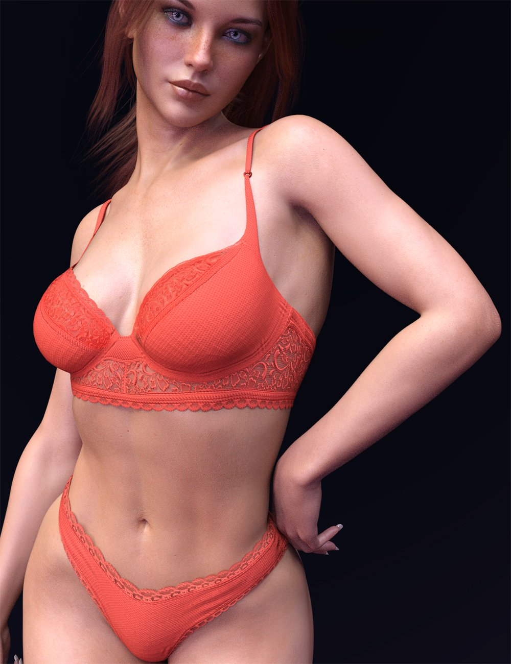 X-Fashion Private Lingerie Set For Genesis 8 and 8.1 Females by: xtrart-3d, 3D Models by Daz 3D