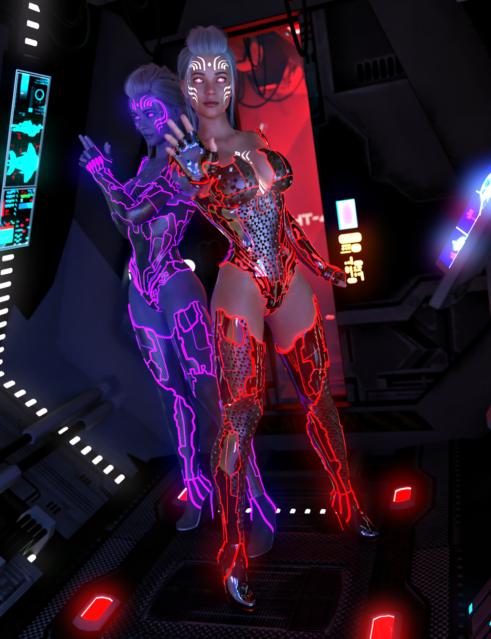 Electrified for CyberPunk Unlimited Outfit by: Vex, 3D Models by Daz 3D