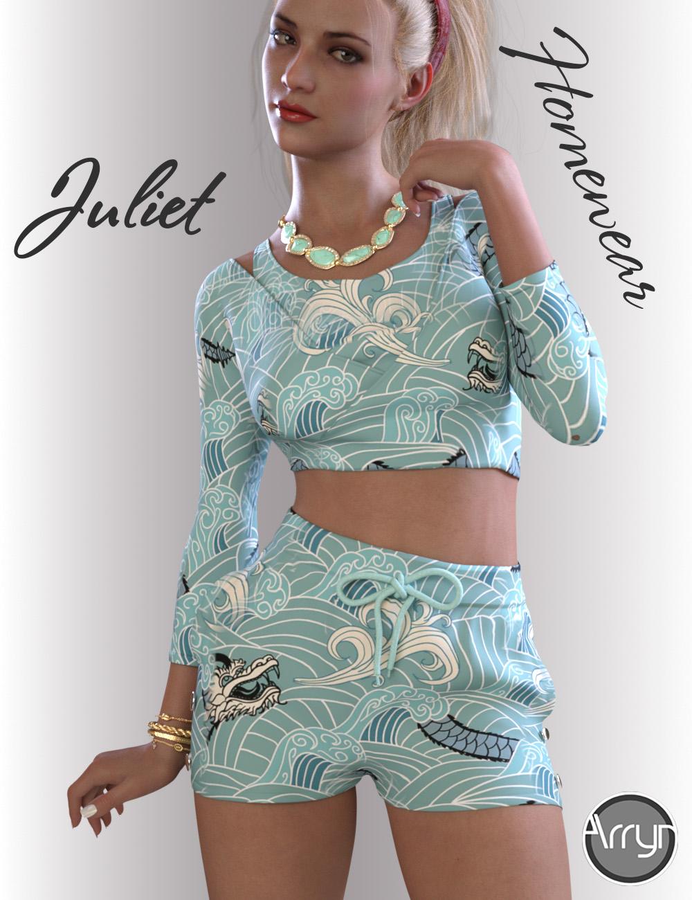dForce Juliet Homewear for Genesis 8.1 Females by: OnnelArryn, 3D Models by Daz 3D