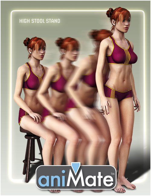 aniMate Transitions Sits 1 Pack by: GoFigure, 3D Models by Daz 3D