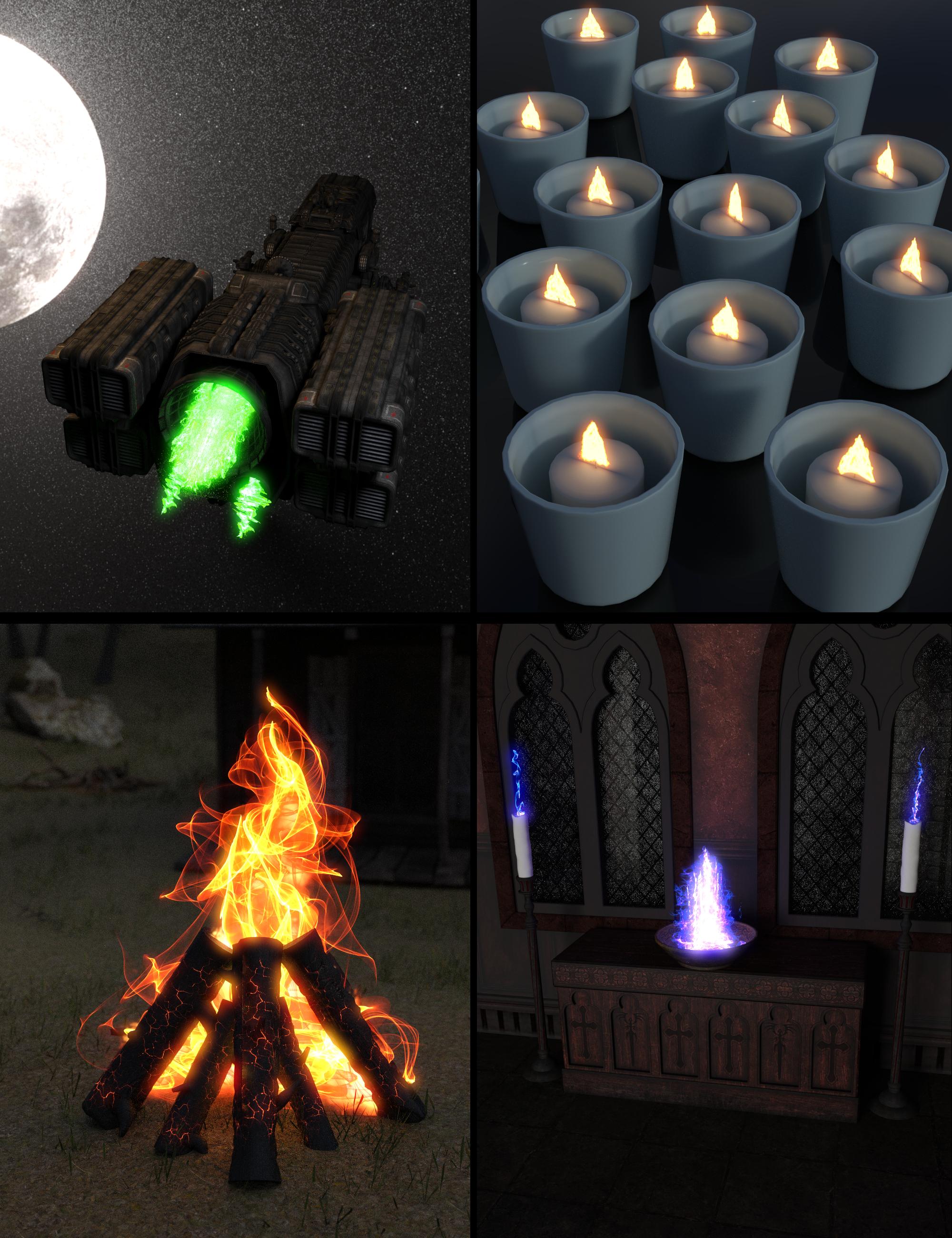 Fast Flames Iray II by: Sickleyield, 3D Models by Daz 3D