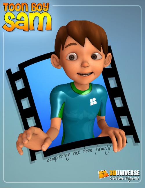 Toon Boy Sam by: 3D Universe, 3D Models by Daz 3D