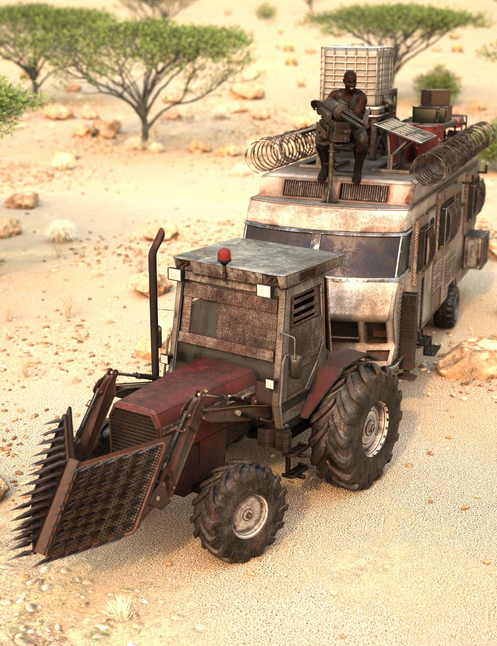 Zombie Tractor RV by: Charlie, 3D Models by Daz 3D