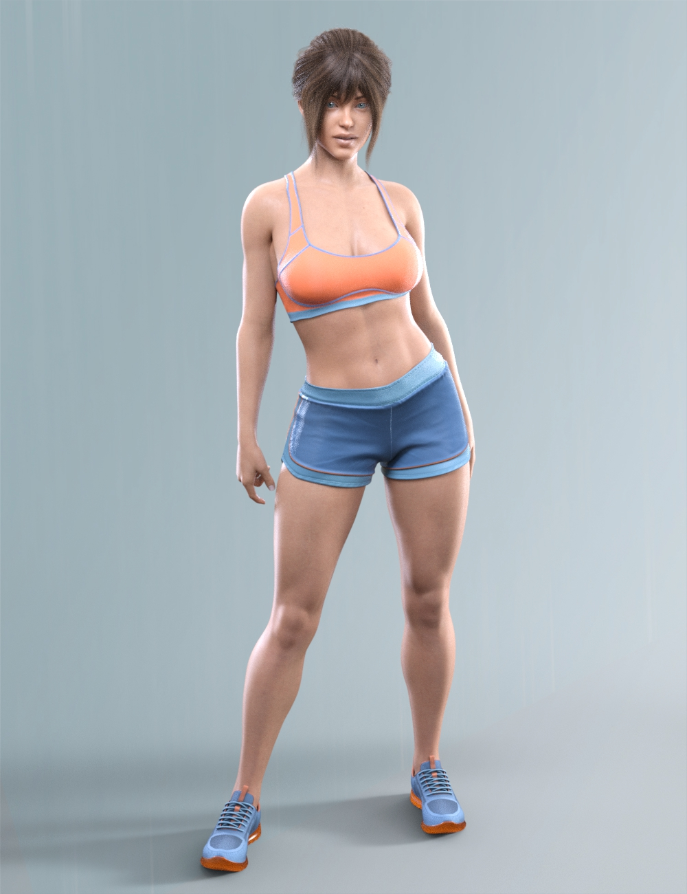 COG Sports Outfit for Genesis 8 and 8.1 Females by: CatOnGlade, 3D Models by Daz 3D