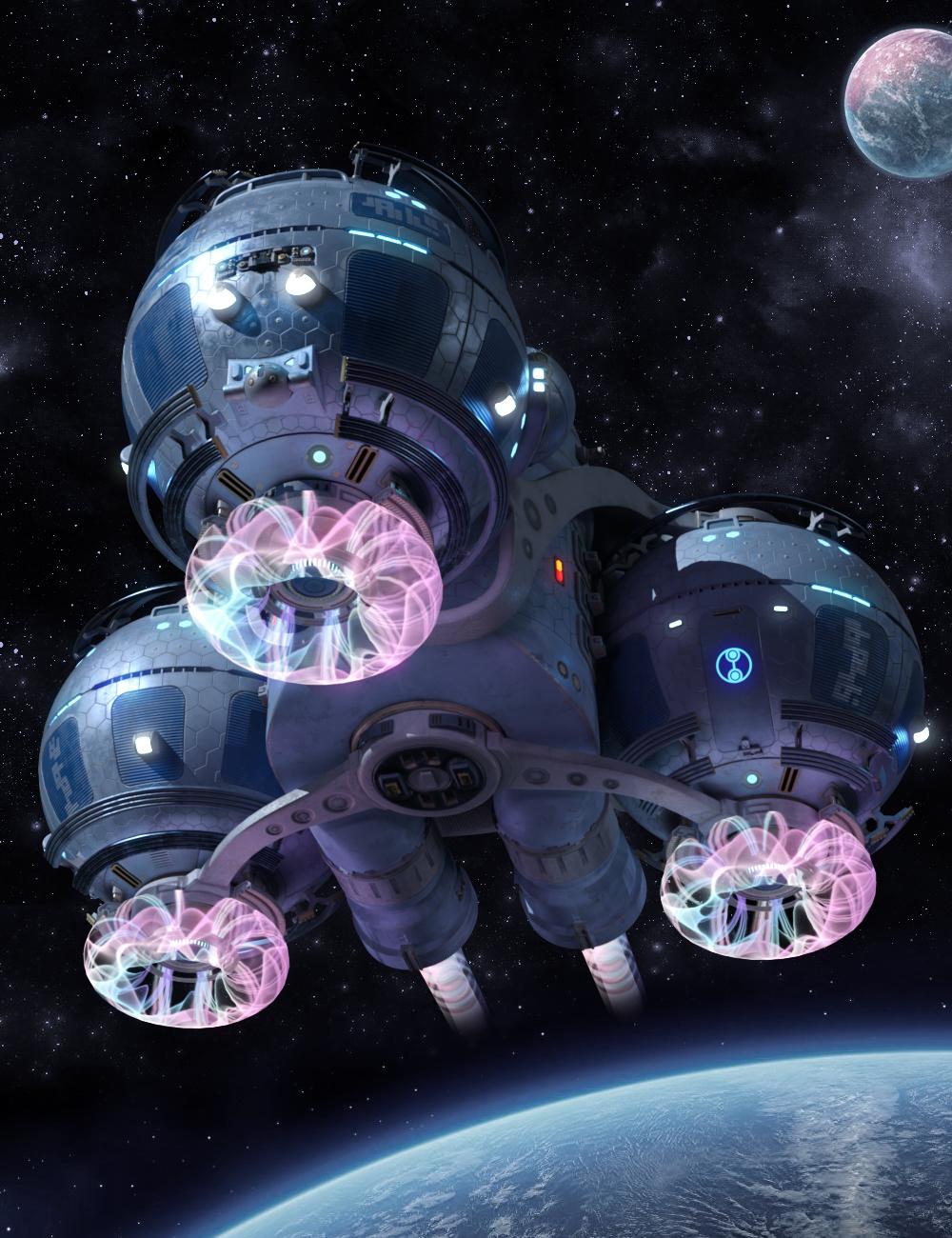 Starship Gaya by: petipet, 3D Models by Daz 3D