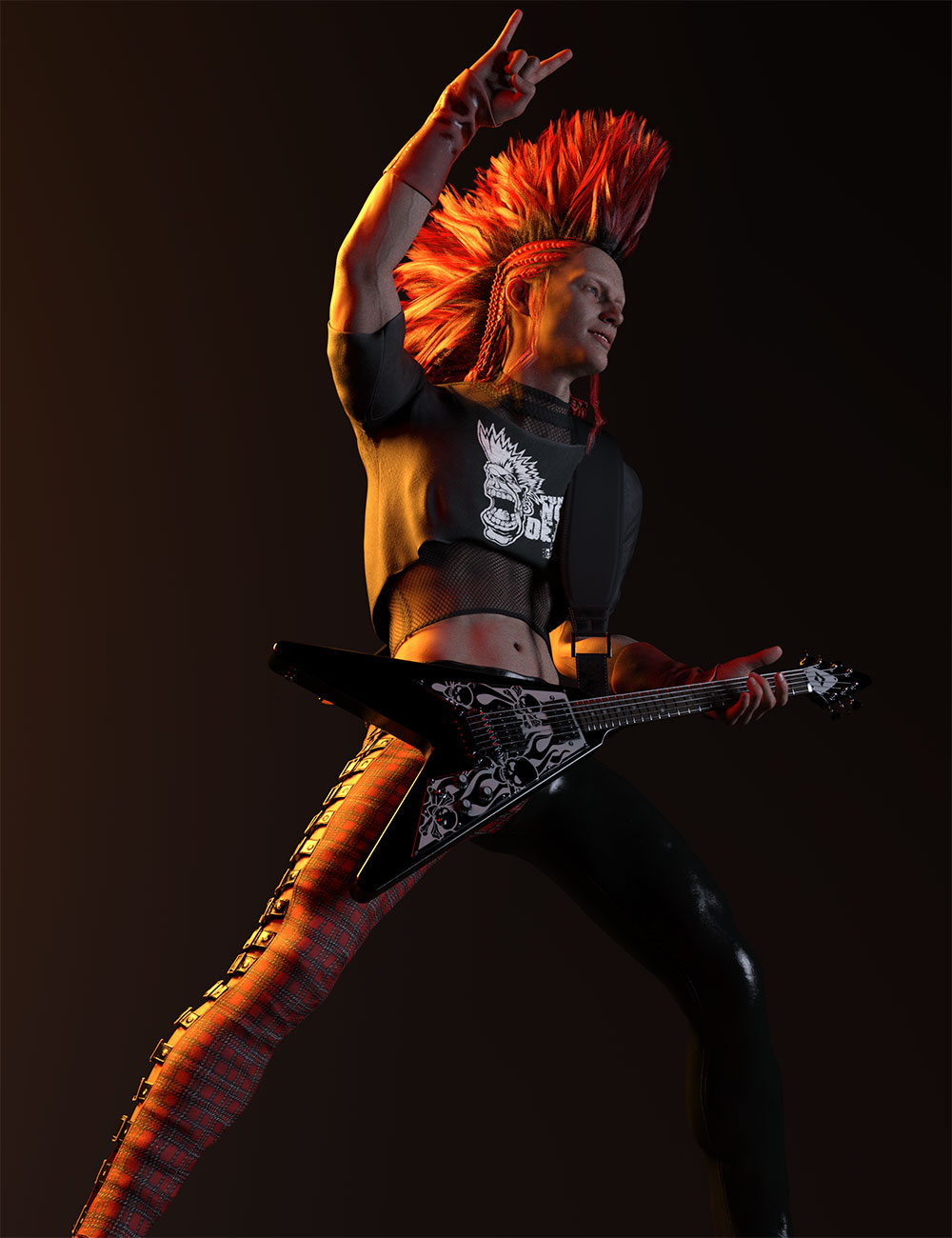 Rocker Dude for Genesis 8 Males by: Lyrra MadrilMoonscape GraphicsSade, 3D Models by Daz 3D