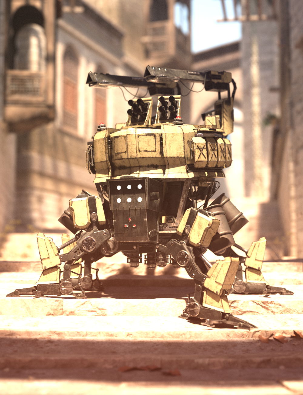 Walking UGV by: Charlie, 3D Models by Daz 3D