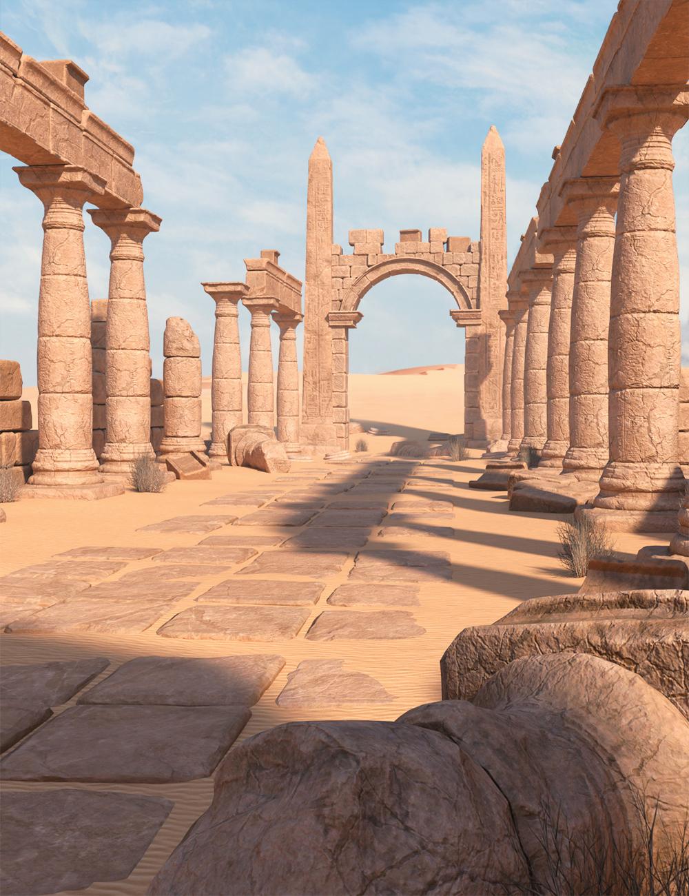 Desert Ruin by: 3dLab, 3D Models by Daz 3D