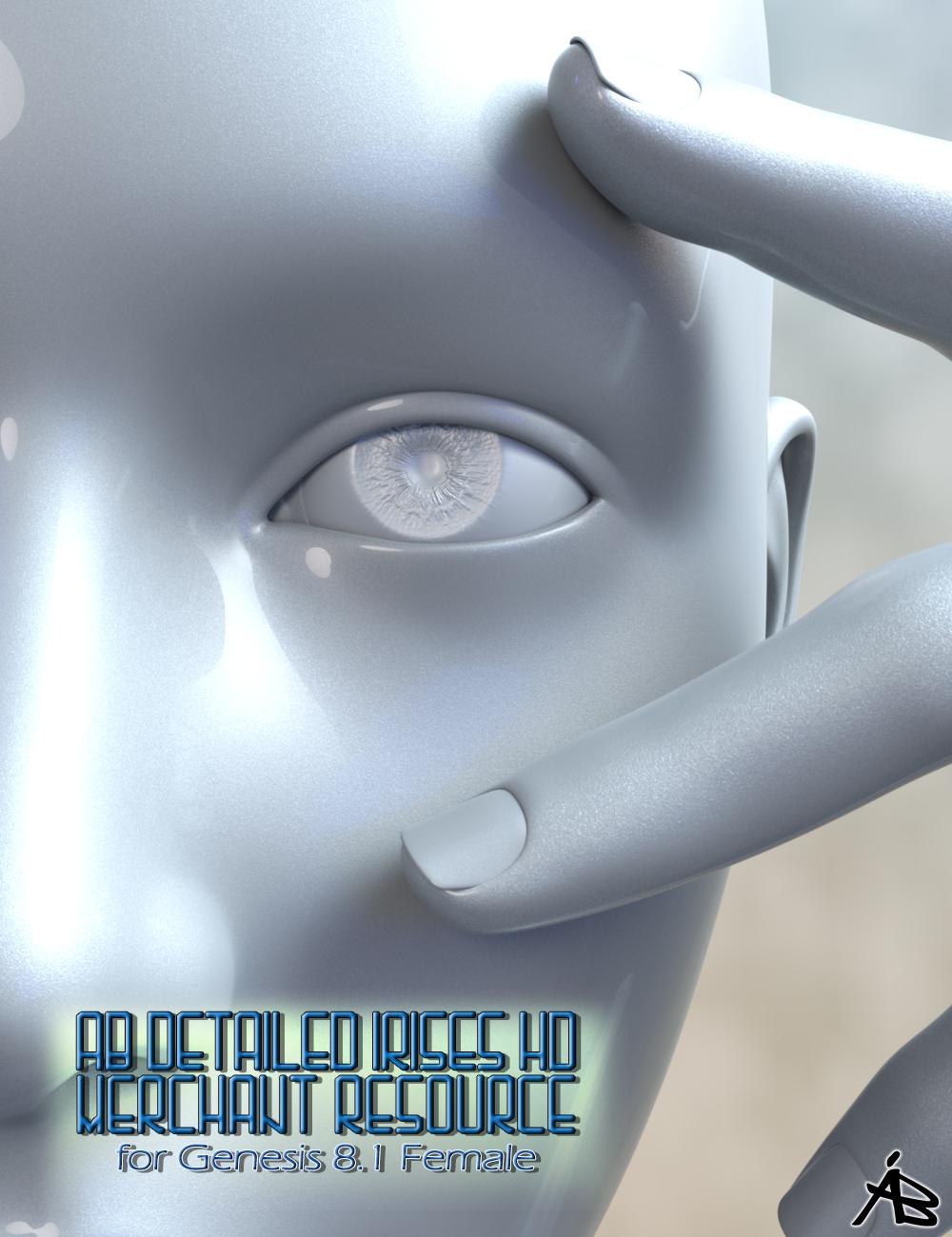 AB Detailed Irises HD for Genesis 8.1 Female (MR) by: AuraBianca, 3D Models by Daz 3D