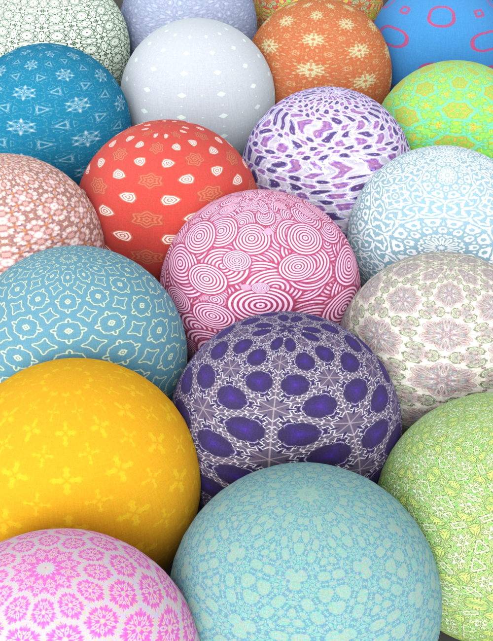 Perfect Pattern Fabric Shaders for Iray by: AHArt, 3D Models by Daz 3D