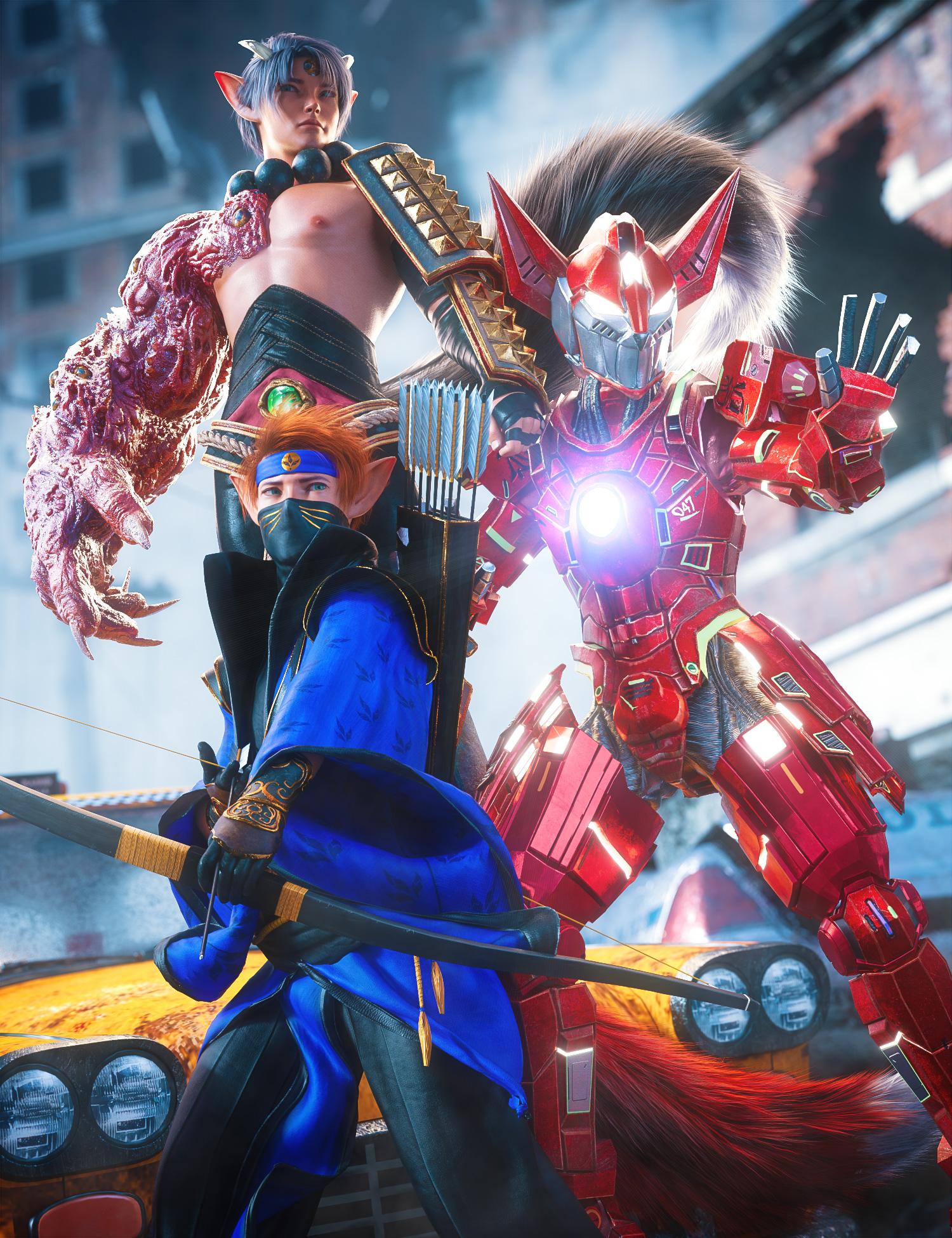 Kota 8.1 Mech Warrior Bundle by: , 3D Models by Daz 3D