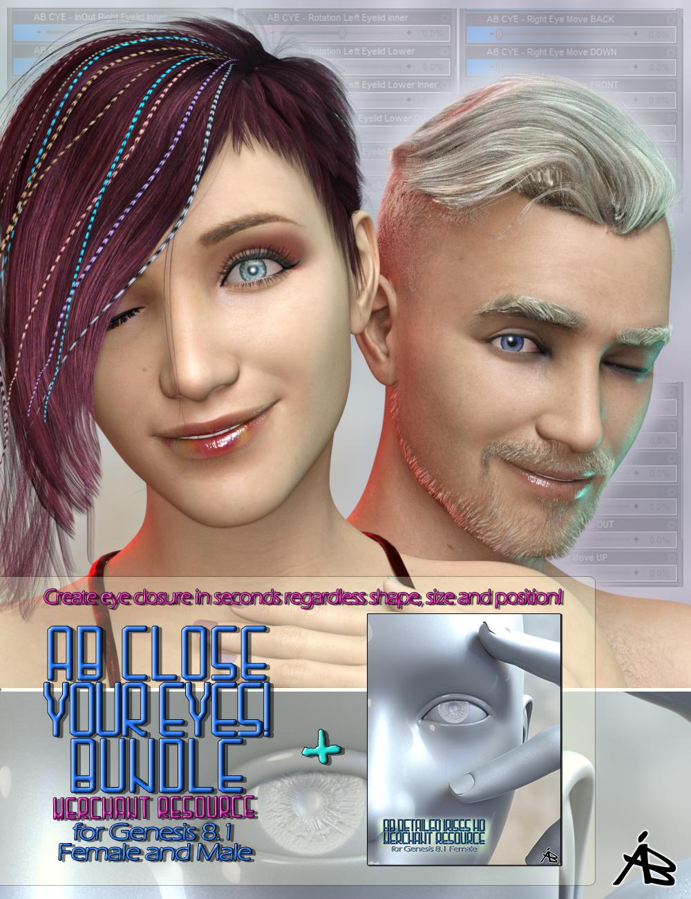 AB Close Your Eyes! Bundle (MR) by: AuraBianca, 3D Models by Daz 3D