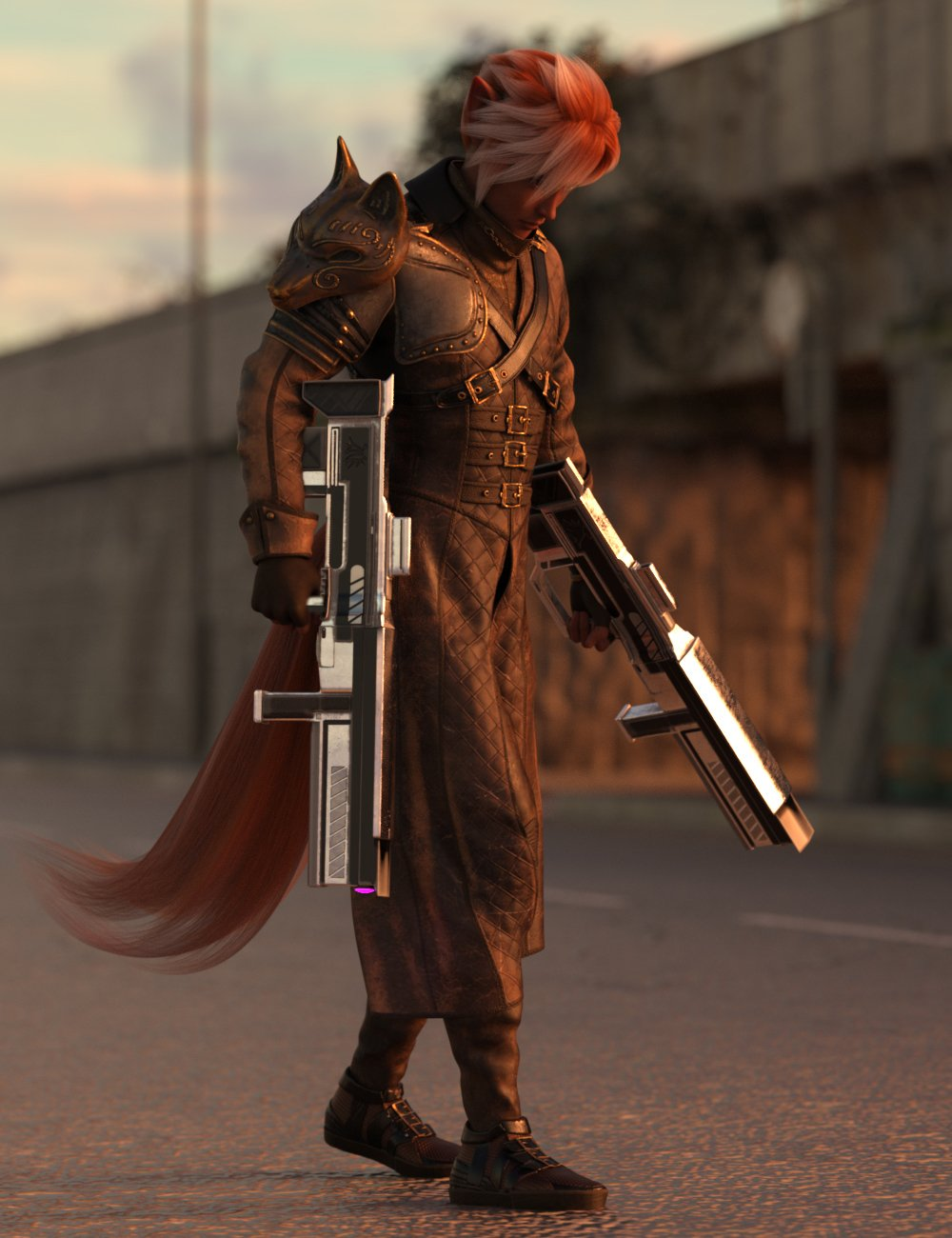 Mercenary Fox Hierarchical Poses for Kota 8.1 by: Ensary, 3D Models by Daz 3D