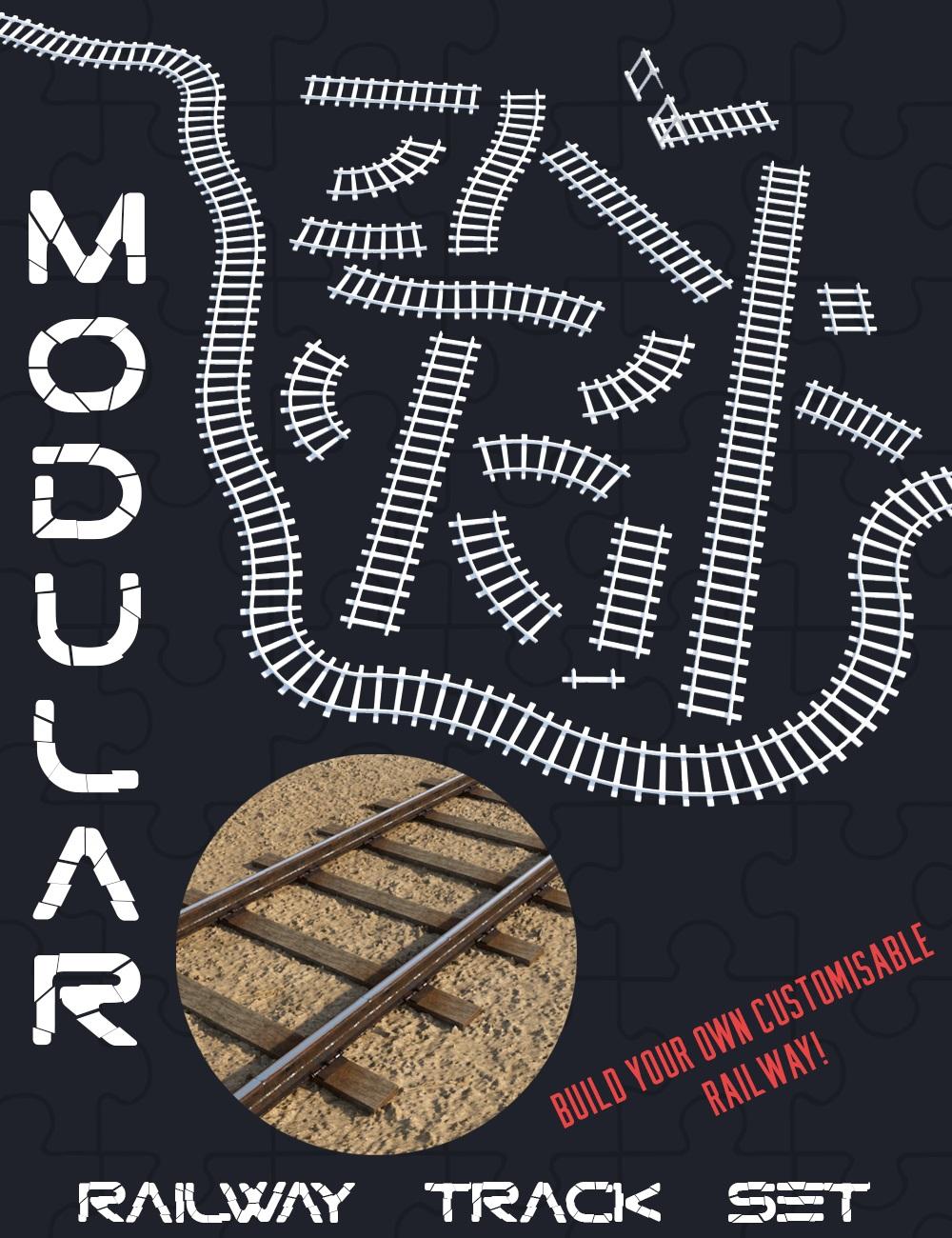 Modular Railway Track Set by: Censored, 3D Models by Daz 3D