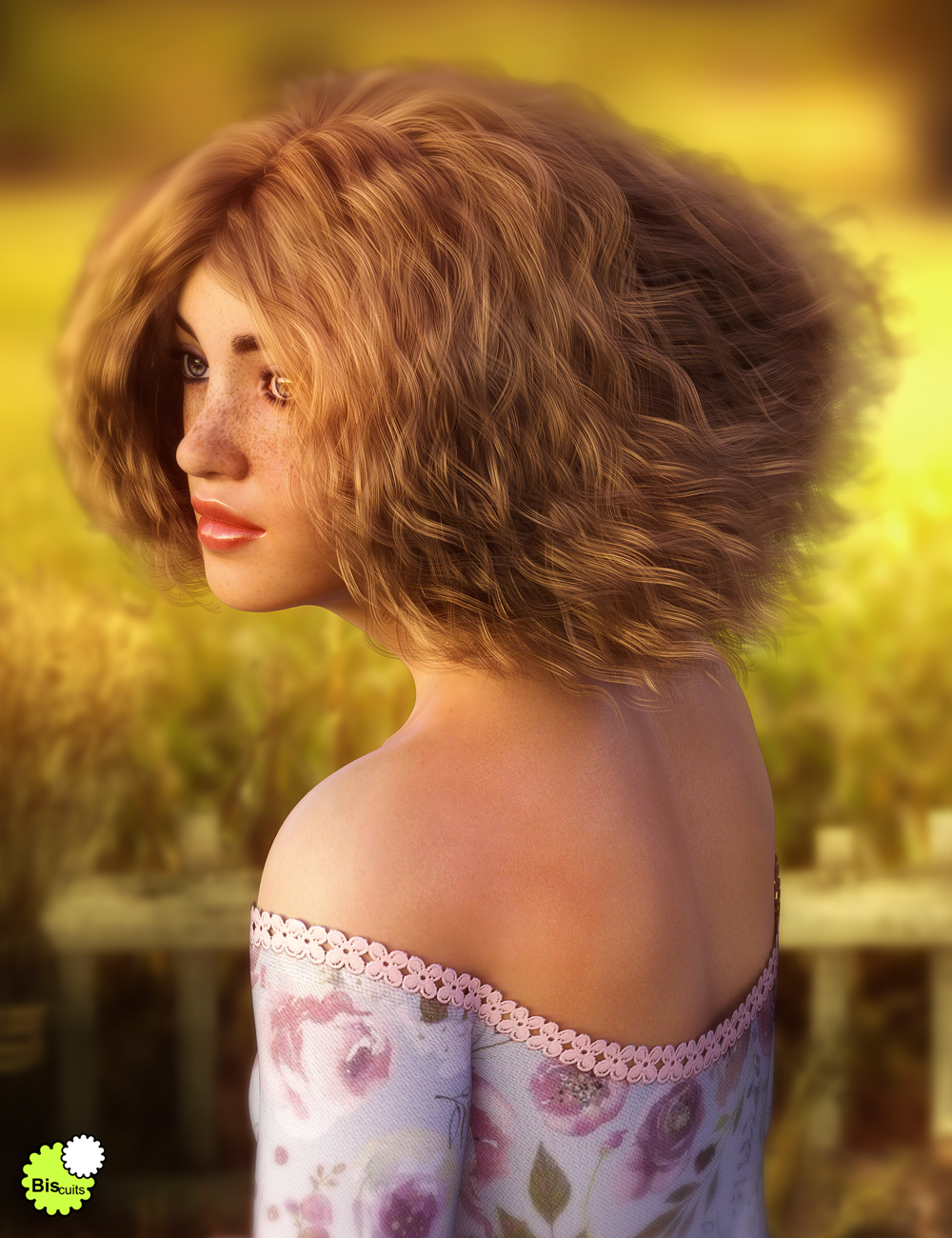 Biscuits Aggie Hair for Genesis 8 Female by: Biscuits, 3D Models by Daz 3D
