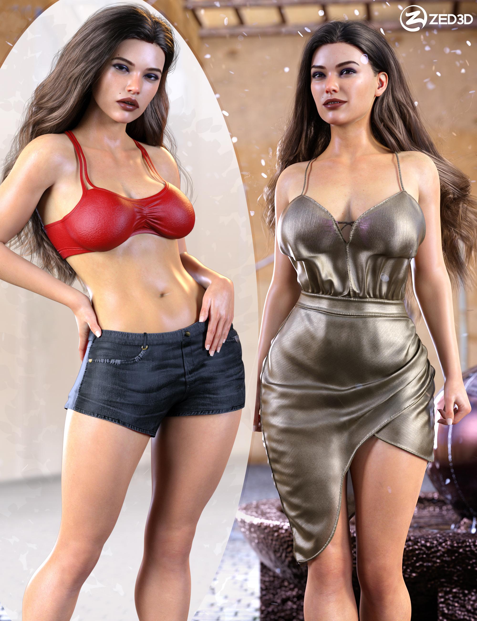 Z Exotic Beauty Shape and Poses Mega Set by: Zeddicuss, 3D Models by Daz 3D