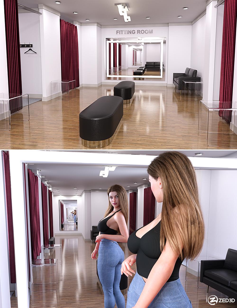 Z Fitting Room Environment by: Zeddicuss, 3D Models by Daz 3D