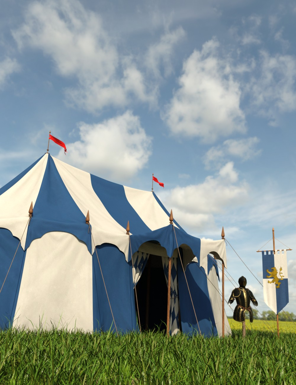 Commander's Tent by: Goriav, 3D Models by Daz 3D