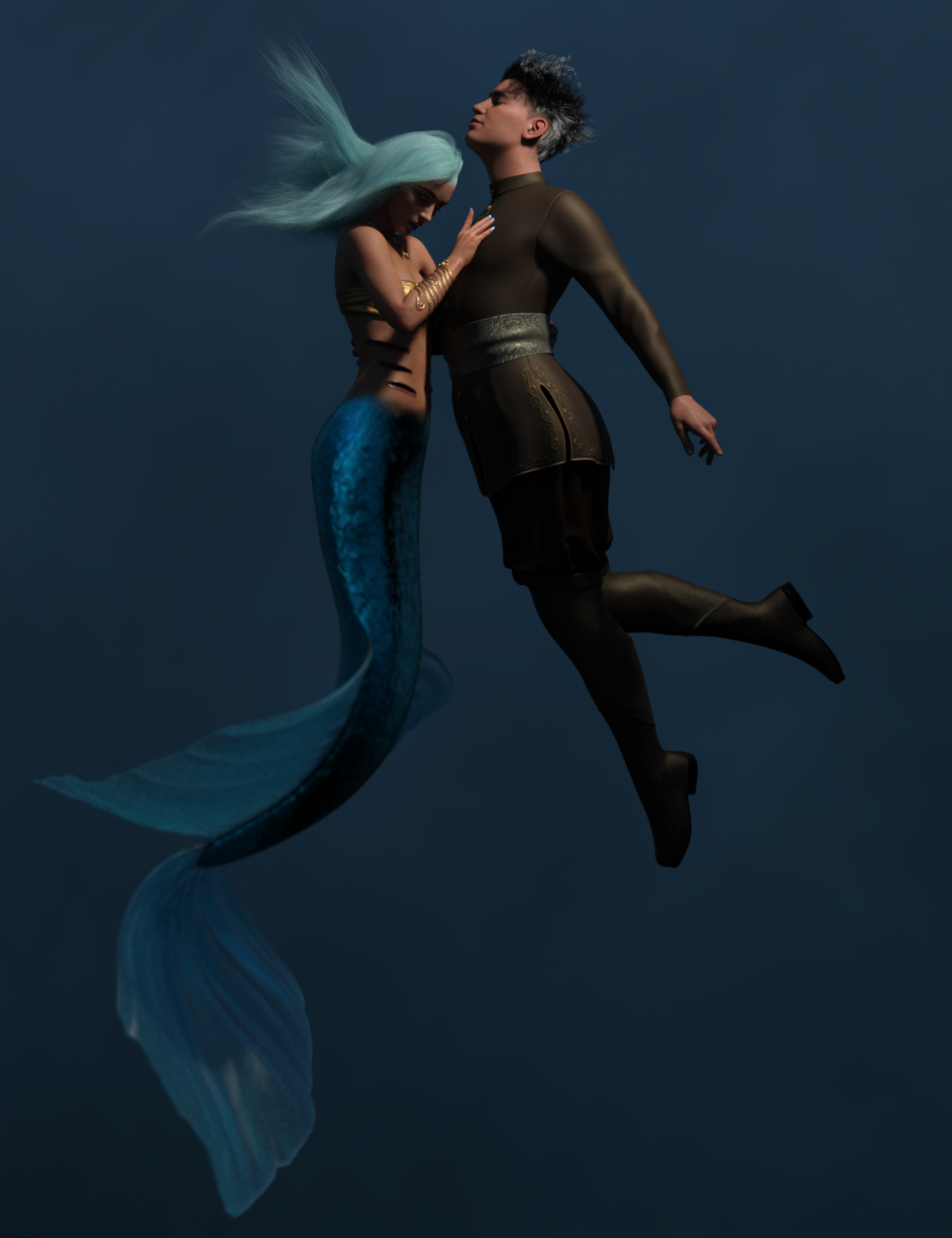 From Land and Sea Hierarchical Poses for Coral 8.1 and Genesis 8.1 Male by: Ensary, 3D Models by Daz 3D