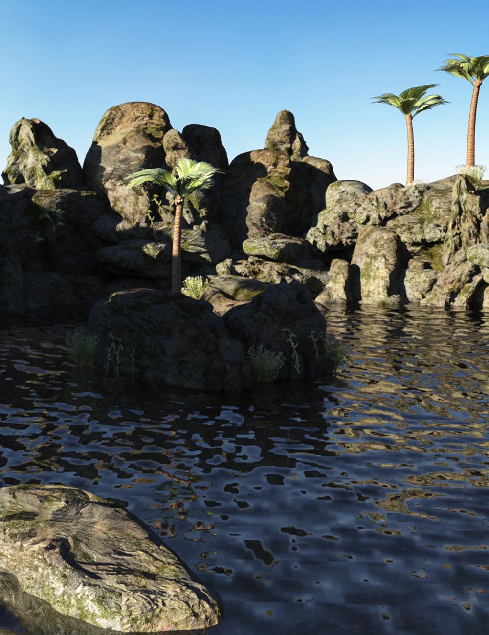 Mermaid Lagoon by: bituka3d, 3D Models by Daz 3D
